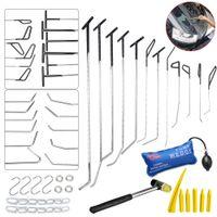 Wholesale Ding Repair Kit - PDR Hook Tools Push Rod Black Car Crowbar Pump Wedge Paintless Dent Repair Tools PDR Kits Ding Hail Puller Set Ferramentas