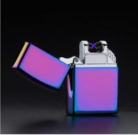 Wholesale Price Usb Lighter - Wholesaling Business Gifts Smoking Set Metal Windproof Flameless Durable&Price Rechargeable USB Double Arc Plasma Igniting Lighter