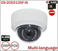 Wholesale Dome Infrared Cctv Camera - 2015 New Hikvision Camera DS-2CD2135F-IS replace DS-2CD2132F-IS & DS-2CD2132-I 3Mp IP CAMERA with Audio Alarm I O interface Mini Dome CCTV