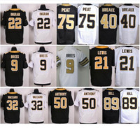 Wholesale Andrus Jersey - Wholesale Color Rush #9 Drew Brees Jersey Keenan Lewis Mark Ingram Kenny Vaccaro Delvin Breaux Stephone Anthony Andrus Peat Josh Hill Jersey