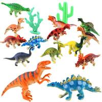 Wholesale Play Dinosaurs - 12pcs set Dinosaur Toy Plastic Jurassic Play Dinosaur Model Action & Figures Best Gift for Boys YH-17