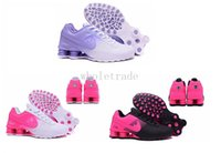 Wholesale Pink Satin Sale - Air Shox Deliver Shoes 809 Womens Air Shox Shoes in Pink White Black Purple for sale Size 36-40 Come With Box Free Shipping