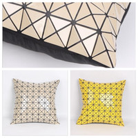 Wholesale Pillow Case Paillette Diamond inch Decorative Geometry Office Home Decorative Car Throw Pillowcase YYA209