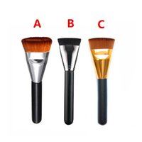 Wholesale Pro Make Up - 50PCS Fashion Professional Cosmetic Pro 163 Flat Contour Brush Big Face Blend Makeup Brush Portable Make Up Tool NO LOGO DHL Wholesale