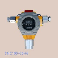Wholesale SNC100 C6H6 LCD fixed Gas Detector With sound and light alarm real time display monitor the ETO concentration