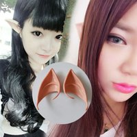 Wholesale Mysterious Angel Elf Ears Cosplay Accessori LARP Partito di Halloween Latex Soft Pointed Prosthetic Suggerisce le orecchie false