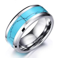 Wholesale top china fashion jewelry resale online - Turquoise Tungsten Carbide Ring Wholesales Promotion with low prices a month only mm fashion jewelry ring for men top sales
