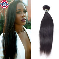 Wholesale Single Human Hair Extensions - Brazilian Virgin Hair Straight Single Bundle Brazilian Hair Weave Bundles Straight Human Hair Extensions 100g Natural Black Color 1b Unifos