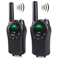 Wholesale Walkie Talkie 5km Range - 2pcs T-668 Professional 8-Channel Walkie Talkie LCD Screen 5km Range Twintalker PMR Autoscan with Belt Clip Call Alert Flashlight
