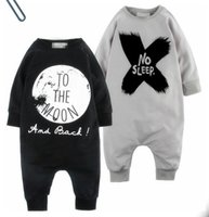 Wholesale Girls Collapse Harem Pants - IDGIRL Autumn Cotton Baby Boy Clothes Girl Baby Rompers Baby Clothes NO SLEEP Baby Clothing Harem Style Pants Collapse JY0176
