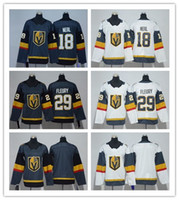 ingrosso youth hockey jersey-New Kids / Youth Vegas Golden Knights # 18 James Neal # 29 Marc-Andre Fleury Grigio / Bianco / Blank Hockey Maglie Spedizione gratuita Ordine di mix ordine