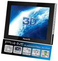 Atacado-Original Phenix 3D Digital Photo Frame 8 polegadas LCD óculos-Free frame Multi-mídia 3D Play óculos grátis 3D PMP Video MP4 Playback