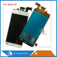 Wholesale Blade Lcd - High Quality For Blade S6 LCD Display +Touch Screen Sensor Assembly Digitizer White color
