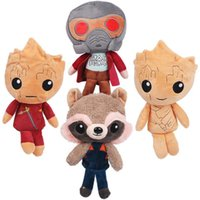 Guardiões da Galáxia Peluches Brinquedos Cartoon Comics Heroes Avengers Star-Lord Rocket Baby Groot Dolls kids Gift Collection 20cm