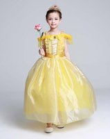 Wholesale costume beast - 2017 children cloth Beauty and the beast cos clothing bell princess dress princess dress cosplay costume party costumes