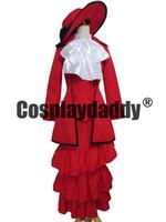 Wholesale Madam Red Cosplay - Black Butler Kuroshitsuji Red Madam Red Dress Cosplay Costume