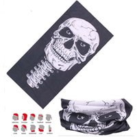 Wholesale Colorful Skull Scarf - Wholesale- Cycling Variety Turban Magic Headband Colorful Seamless Skull Pattern Bandanas Tube Headwear Face Mask Head Scarf Seamless
