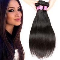 Wholesale price mongolian hair weave resale online - Brazilian Virgin Human Hair Weaves Malaysian Indian Peruvian Cambodian Mongolian Hair Bundles Best Price Bemiss On Sale Straight Human Hair