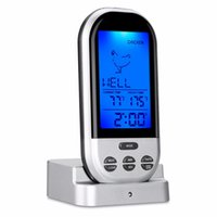 Wholesale Digital Cooking Food Probe Meat - arden Supplies Household Thermometers Wireless Food Cooking Thermometer LCD Barbecue Timer Digital Probe Meat Thermometer BBQ Temperature...