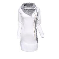 Wholesale Top Stylish Ladies Long Shirts - Wholesale- High Quality 2015 New Stylish Women Shirt Turn-Down Collar Woman Lady Rivet Embellished Long Sleeve Hoodies Women Tops