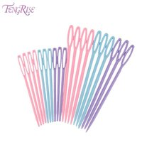 Wholesale Sewing Knitting Supplies - FENGRISE 20pcs Knitting Accessories Plastic Needles Pins Crochet Hooks Stitches Seam Patchworks DIY Sewing Tool Crafts Supplies