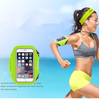 Wholesale music bowl - arm bag luminous sports cell phone bag music night running yoga for safety antiskip durable light convenient and comfortable