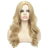 Wholesale long layers wig - Long Layers Wavy in Dark Blonde Full Synthetic Wig