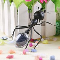 insekt spielzeug für kinder großhandel-10af Neue Simulation Insect Solars Energie Ameise Spielzeug Kreative Für Kinder Aufklärung Solar Ameisen Ohne Batterie Pismire Fabrik Direktverkauf