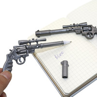 Wholesale Novelty Gun Pens - 1Pcs Roscoe Fiveshooter Gun Ballpoint Pen Novelty Stationery Cute Funny Kawaii Pens Canetas Rollerball Pen School Supplies