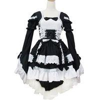 Wholesale sweet lolita cosplay costume for sale – halloween Malidaike Anime Leegoal Sexy Japan Cosplay Lolita Maid Halloween Fancy Dress Sweet Lovely Style One Size