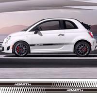 Wholesale Fiat Punto - Car Styling Abarth Side Skirt Racing Sticker Stripe Body Stickers for FIAT 500 grande punto bravo doblo panda ducato