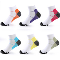 Wholesale Green Medicals - Free shipping Compression Socks Plantar Fasciitis Socks Anti-Fatigue Massage Medical Ankle Foot Sock Heel Spurs Outdoor Sport Socks 6 color