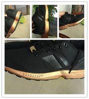 Wholesale Shoes Zx - wholesale best quality AAA+ ZX flux golden black Rose gold SHOES,36-45