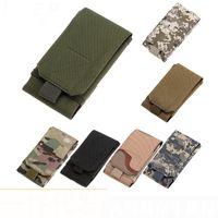 taktisches handy großhandel-Tactical Outdoor Sport große Handy Tasche Molle Zubehör Handy flache Tasche Tarnung Freizeit Tasche