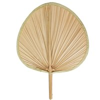 Wholesale Souvenir Angels - Package Edge Palm Leaf Fan Natural Banana Leaf View Point Fan free shipping