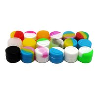Wholesale Wholesale Covers For Food - Silicone Jars Dab Wax Container 2ml Storage Box For Oil Slicks Non-stick Silicone Container 10pcs lot