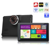 Wholesale Navigator Gps 3g - 7 inch Android 4.4 GPS Navigator Vehicle GPS Tablet With Wifi 3G DVR Function AV-IN Bluetooth FM MTK8127 Cortex A7 1.3GHz 8GB 512MB