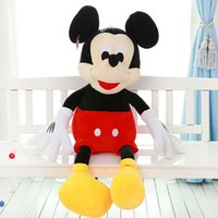 Wholesale Valentine Toys For Children - Wholesale- 50CM Valentines Gift Mickey Minnie Plush Toy Large Mickey Mouse Lovers Doll Birthday Celebration Mickey Doll Toys For Children
