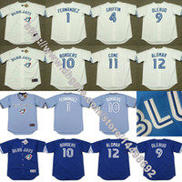 Baseball blue borders - Men s Women Youth Toronto Blue Jays TONY FERNANDEZ DAVE WINFIELD JOHN OLERUD BORDERS CONE ROBERTO ALOMAR Throwback Jersey