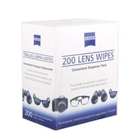 Wholesale Pre Clean - Wholesale- 200 Zeiss Pre-moistened Lens Cleaning Cloths Wipe Glasses Optical Camera Cleaner Professional Lens & DSLR Camera Cleaning Kit