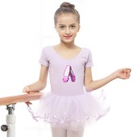 Wholesale Dancing Top For Girls - 2017 New Hot For Girl Kids Ballet Dance Dress Dance-Shoes-Squins-tops Ruched-Tulle Skirt Disfraces Princess Leotard VestidoDQ8020