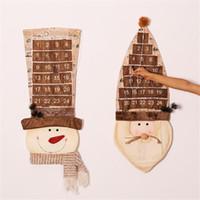 calendarios de adviento al por mayor-Muñeco de nieve Navidad Nuevo 87Cm Calendario de Adviento de Navidad Decoraciones artificiales de Navidad para el hogar Personalizar Regalos Calendario Natal