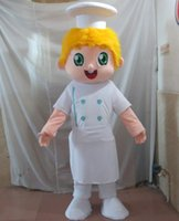 Wholesale Handsome Boys Photos - sm0516 100% real photos of handsome boy mascot chef mascot costume with blond hair for adult to wear