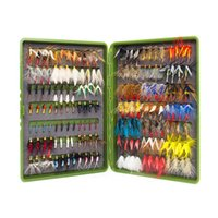 Wholesale Wholesale Fly Tying Materials - 168Pcs Wet Dry Fly Fishing Set Nymph Streamer Poper Emerger Flies Tying Kit Material Lures Fishing Box Tackle For Carp Trout