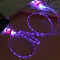 Wholesale Led Android Charger - Micro USB cable led charging cable 1M Universal android charger for samsung s7 Huawei Vivo Oppo
