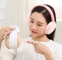 Wholesale Woman Winter Ear Cover - Winter Fashion Women Faux Rabbit Fur Solid Earmuffs Adjustable Foldable Warm Cute Ear Covers For Girls