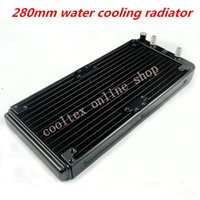 Wholesale Gpu Cpu Water - Wholesale- 280mm water cooling radiator for Chip CPU GPU VGA RAM Laser cooling cooler Aluminum Heat Exchanger