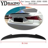Per Lexus IS250 IS350 IS300 2013-2017 in fibra di carbonio Auto Car Rear Spoiler Baule del collo
