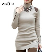 Fashion-Slim Sweater Show Thin Korean Style Joker Loose Plus Size Turtleneck Damen Pullover Pullover Kleid Langes Strickmode Wolle Kleid M-XL