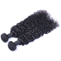 Wholesale Indian Curly Hair Wefts - Indian Virgin Human Hair Jerry Curly Unprocessed Remy Hair Weaves Double Wefts 100g Bundle 2bundle lot Can be Dyed Bleached